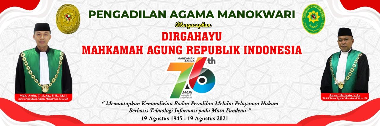 DIRGAHAYU MAHKAMAH AGUNG KE- 76
